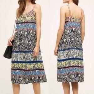 Anthro One September Cosima Embroidered Midi Dress